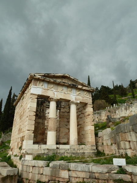One of the places where they left their offerings to the temple at Delphi.  This was the only one standing that they had reconstructed.