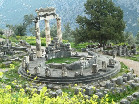 What remains of the thora of Temple of Athena (apparently no one knows what a thora is for).